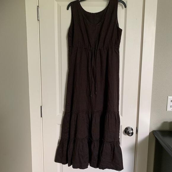 Lands' End Dresses & Skirts - Lands end linen maxi dress with drawstring as L